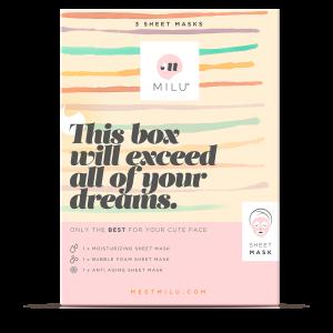 3 sheets masks gift box